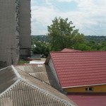 The view from the upper floor