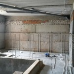 Mikvah ready to be tiled